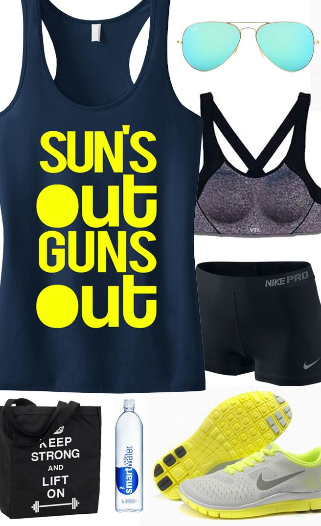 I need that tank!! NobullWomanApparel, $24.99 on Etsy. Click to buy https://www.etsy.com/listing/189409328/suns-out-guns-out-tank-racerback-workout?ref=shop_home_active_15