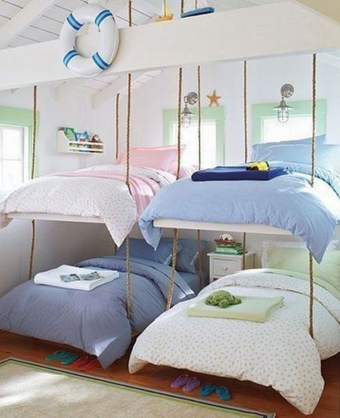 What A Cute And Clever Space Saving Idea For A Cottage Or Beach House: