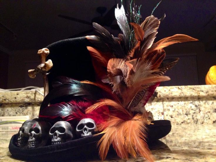 Baron Samedi Tophat by Ghostfire68 on Etsy https://www.etsy.com/listing/269189440/baron-samedi-tophat