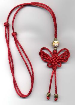 butterfly pendant necklace ... Chinese Knotting