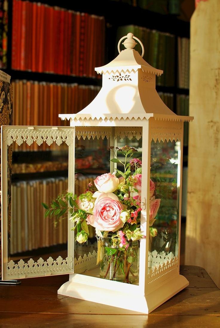 Use a lantern as a vase.