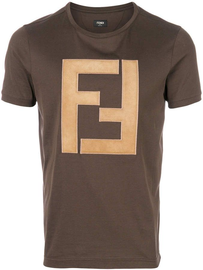 af5145df Fendi FF Logo T-shirt | Men - T-shirt | Fendi, T shirt, Mens tops