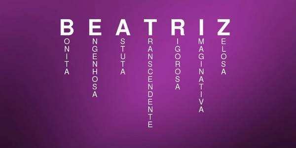 Significado do nome de BEATRIZ