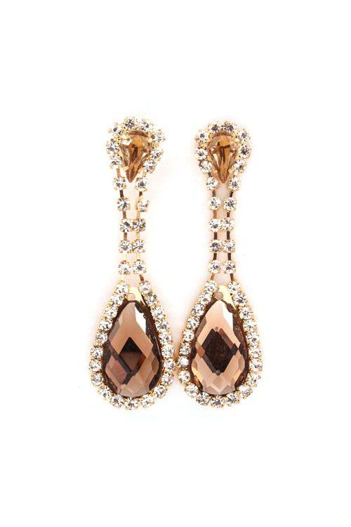 Daphne Earrings in Champagne