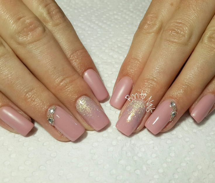 Nude with glitter ombre
