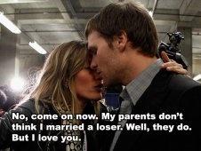 What Gisele Whispered to Tom Brady After Super Bowl XLVI.  Bwahaha!  I can't stand Tom Brady!