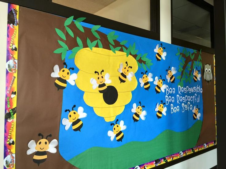 Bumble Bee Bulletin Board, made using the Silhouette Cameo