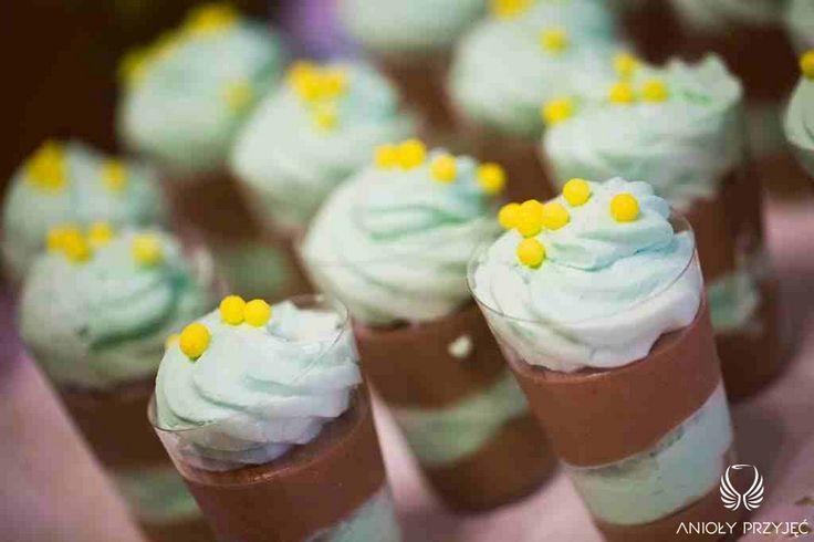 18. Green Wedding,Sweet table,Dessert shooters / Wesele w zieleni,Słodki stół,Anioły Przyjęć
