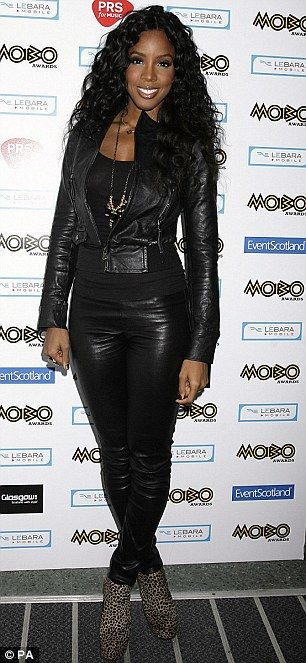 Kelly Rowland arriving for the 2009 MOBO awards at the SECC in Glasgow