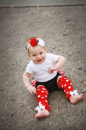 Minnie Mouse Leg Warmer Headband and Bloomer Set by ThisandThatIA, $22.99
