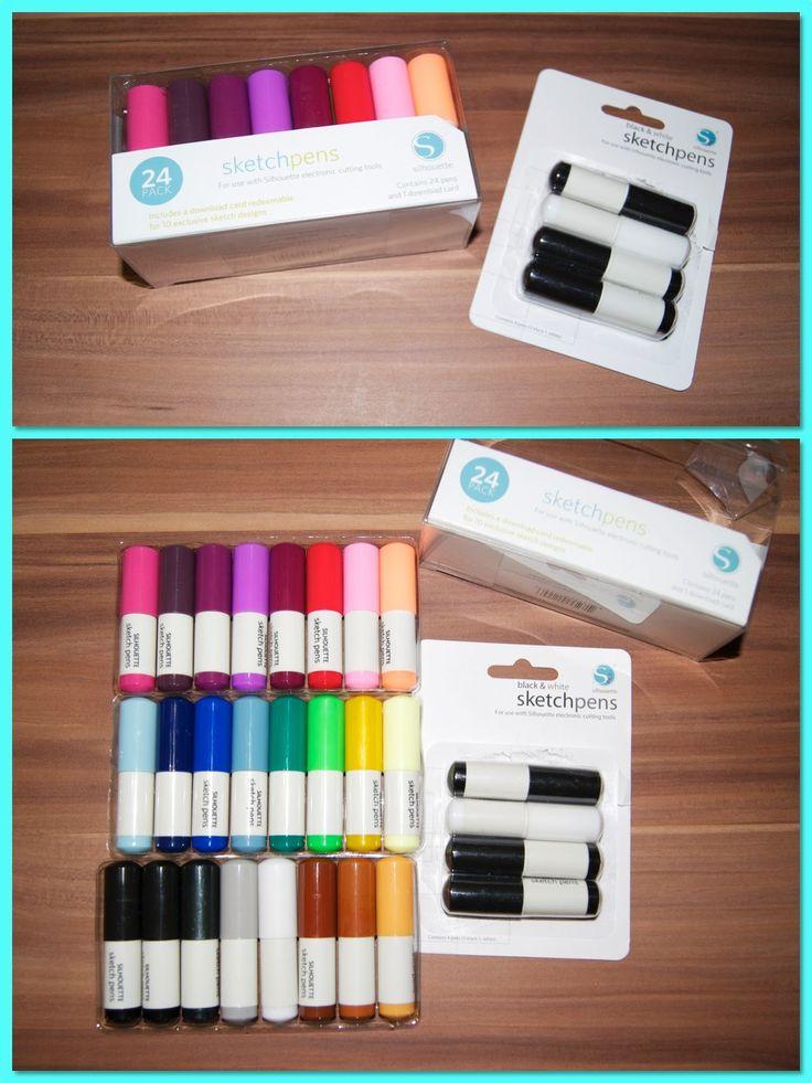 Sewing Tini: Sketch pens - (m)ein Plotter kann auch schreiben und malen