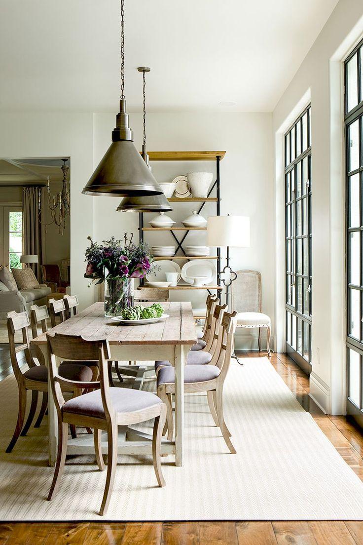 Hunter green dining room decor