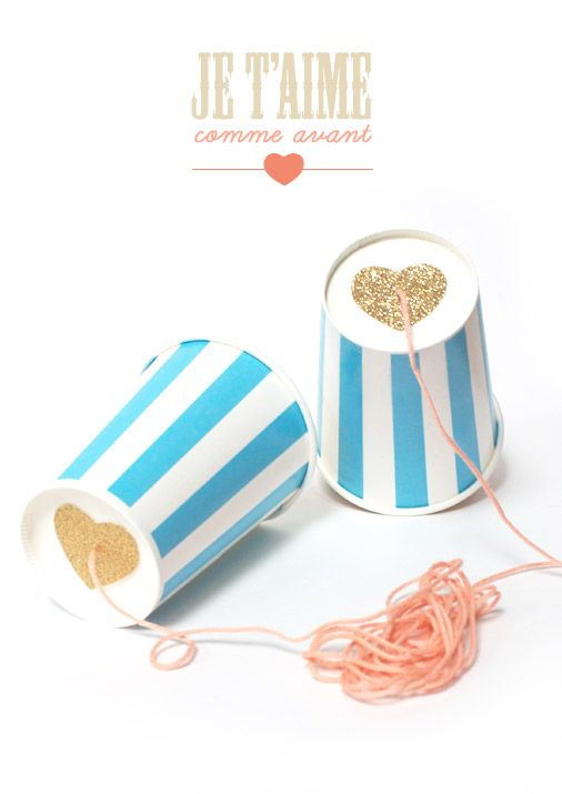 Go back to your childhood with these telephone cups! Your little ones will love it!
