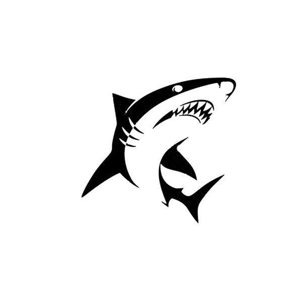 Shark Sticker Vinyl Decal fishing hunt hunting country week bait 217
