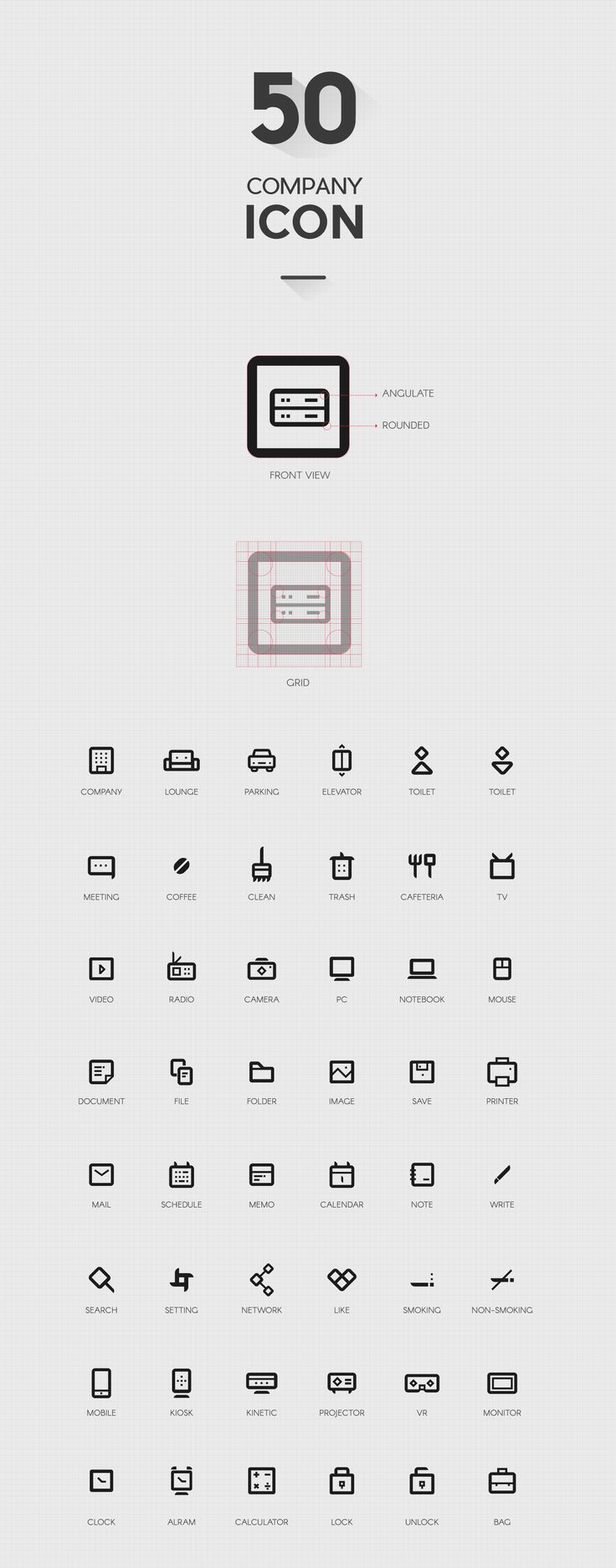 Company icon set on Behance
