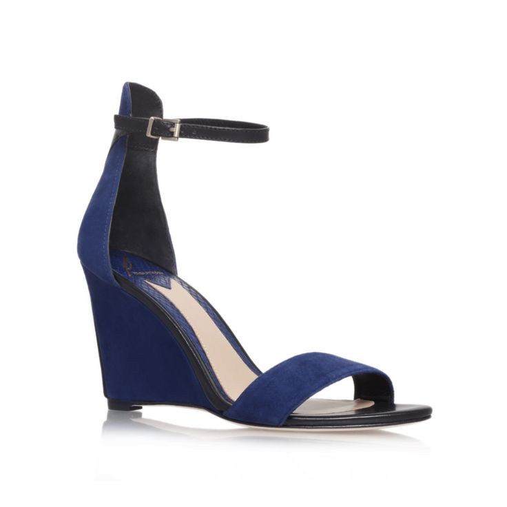 roberta, navy shoe by b brian atwood - women shoes wedges