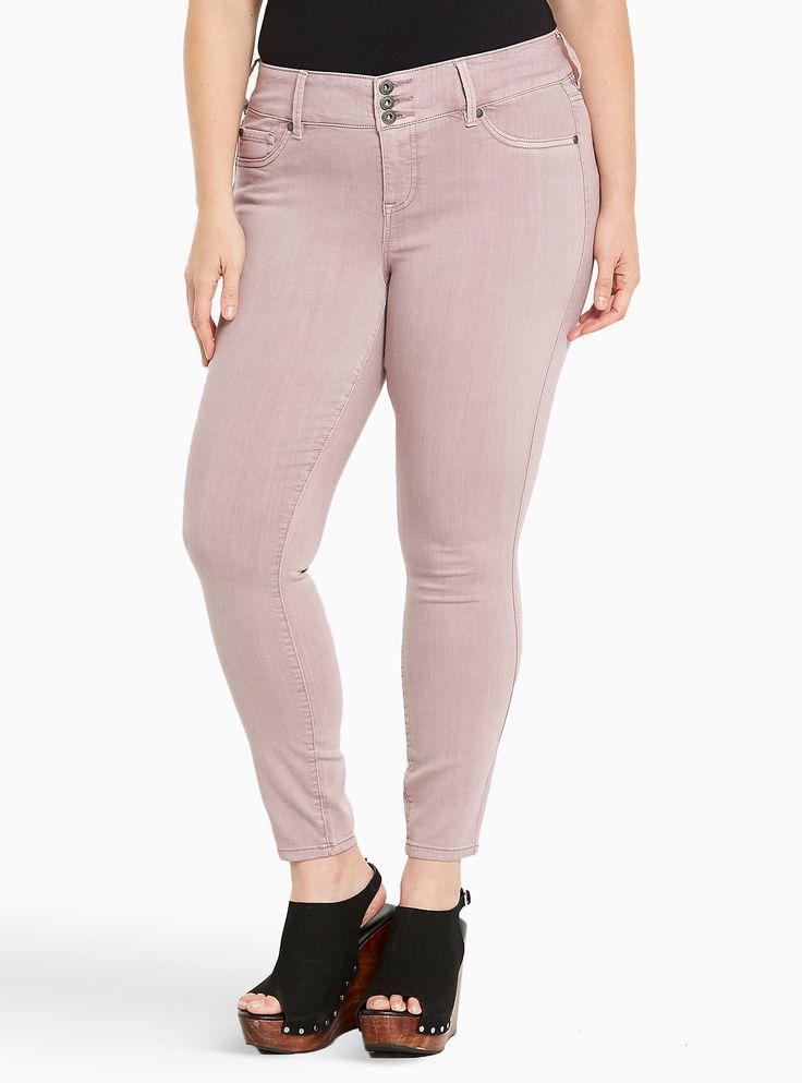 Shoptagr | Torrid Jeggings Dusty Pink Wash by Torrid #plussize #dress #style #outfit #trend #onlineshop #shoptagr