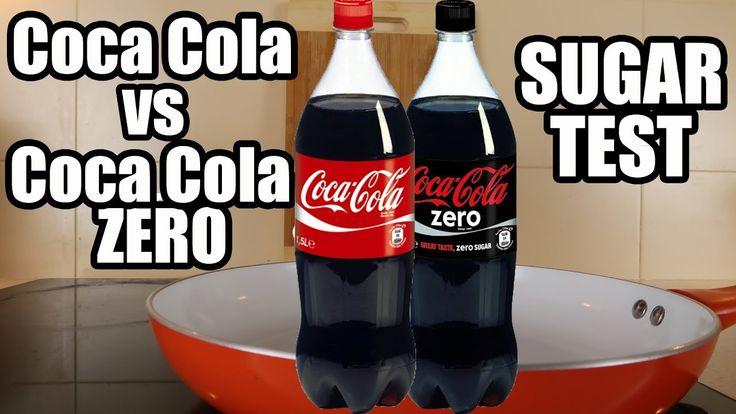 Coca Cola vs Coca Cola Zero. Science Experiments with Coca Cola. How muc...