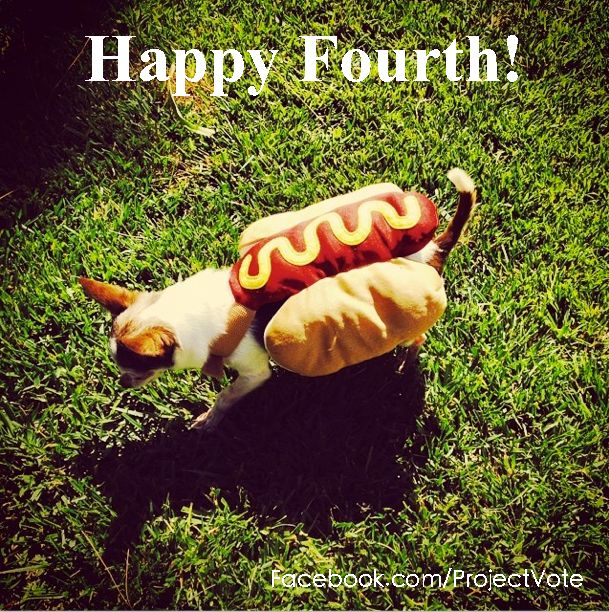Tomorrow is all about fun, family, and celebrating our independence. Start the day by registering to vote at our Web site! #happyfourth #ProjectVotePets