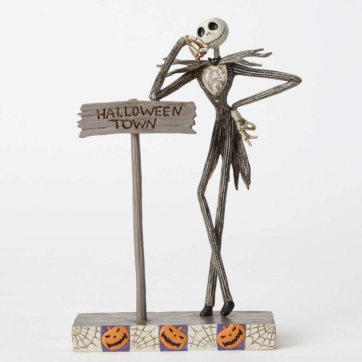 Nightmare Before Christmas - Jack Skellington - Welcome to Halloween Town - World-Wide-Art.com - #nightmarebeforechristmas #halloween #disney #timburton #jimshore #disneytraditions