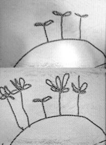芽が出て 花が咲いた 筆:こども店長