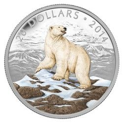 Royal Canadian Mint $20 2014 Fine Silver Coin - Iconic Polar Bear