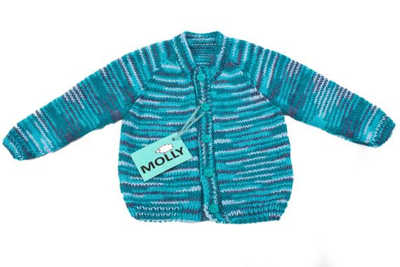 Blue hand made baby boy cardigan size 86,12-18 months