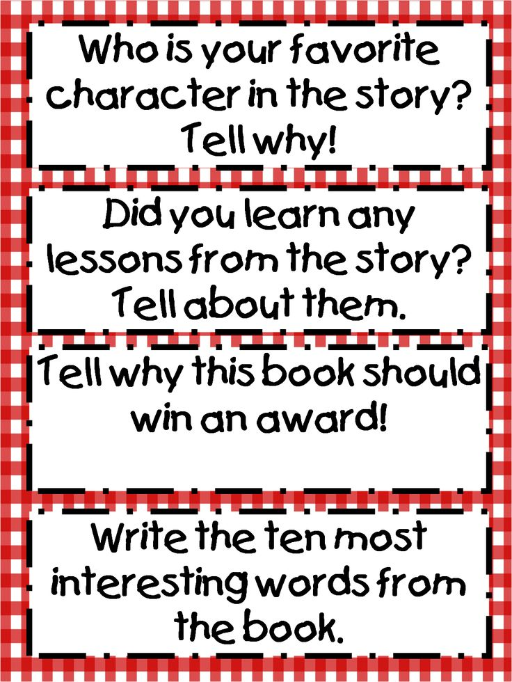 Readers Response Cards
