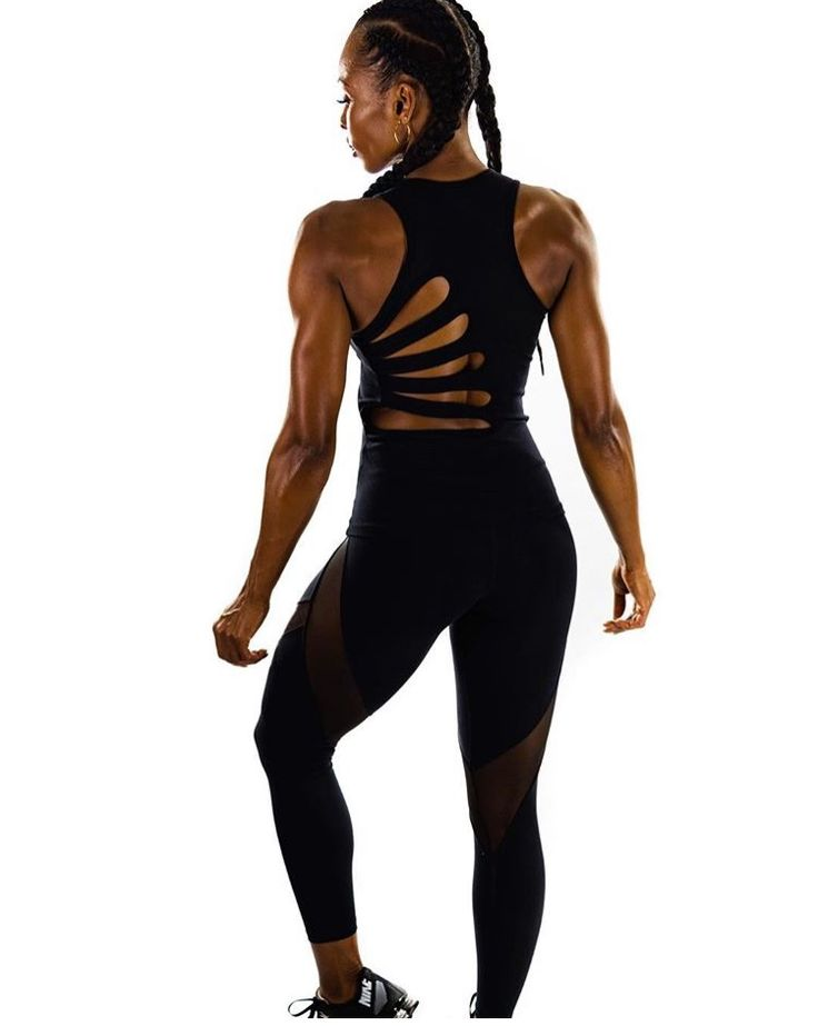 Women's yoga top with back cut outs in black. Made with Brazilian Spandex high quality fabric. Leggings with sheer mesh panel see through details. Fit girls fit chicks fitness wear