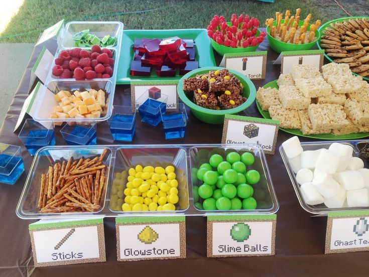 Minecraft Party Snacks                                                                                                                                                     More