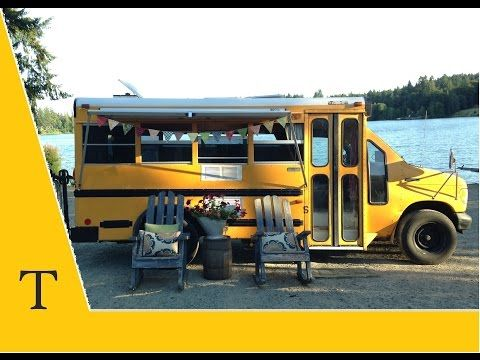 Tour our converted school bus RV! - YouTube -- LOVE this. Wanted to do this when I was young.