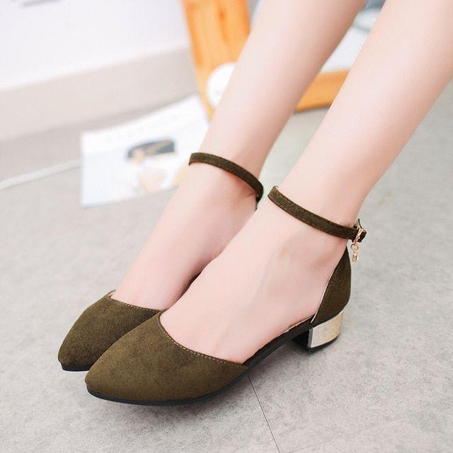 Plus size 3542 women flats ankle strap