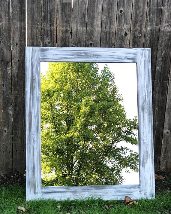 farmhouse mirror bathroom mirror wood mirror wall mirror