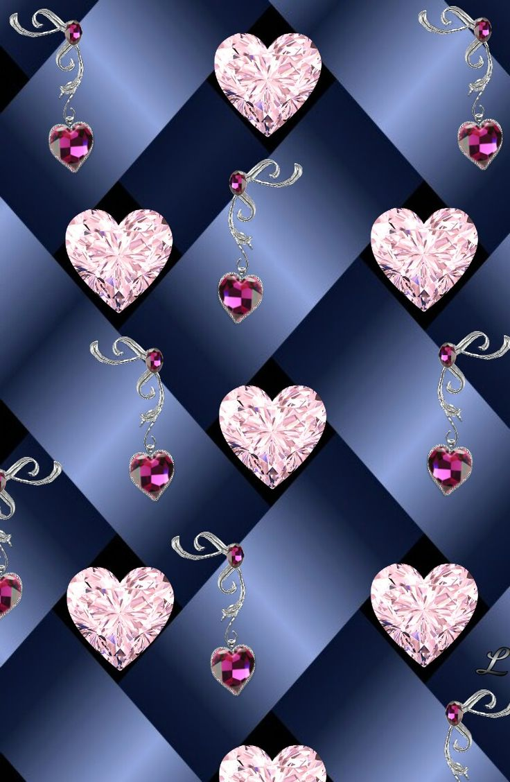 Blue And Silver Sparkly Bling Wallpaper Heart Wallpaper Silver Heart Wallpaper