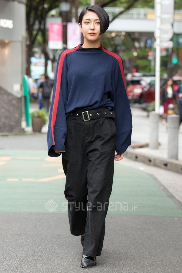 Mizuki   moussy used H&M   5th week Oct. 2017   Omotesando   Tokyo Street Style   TOKYO STREET FASHION NEWS   style-arena.jp