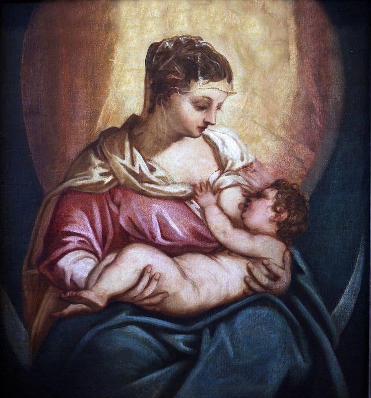 Jacopo Robusti. Said Tintoretto (Tintoretto) 1518-1594. Venice. Nursing Virgin. Verona. (Museo d'Arte Castelvecchio)