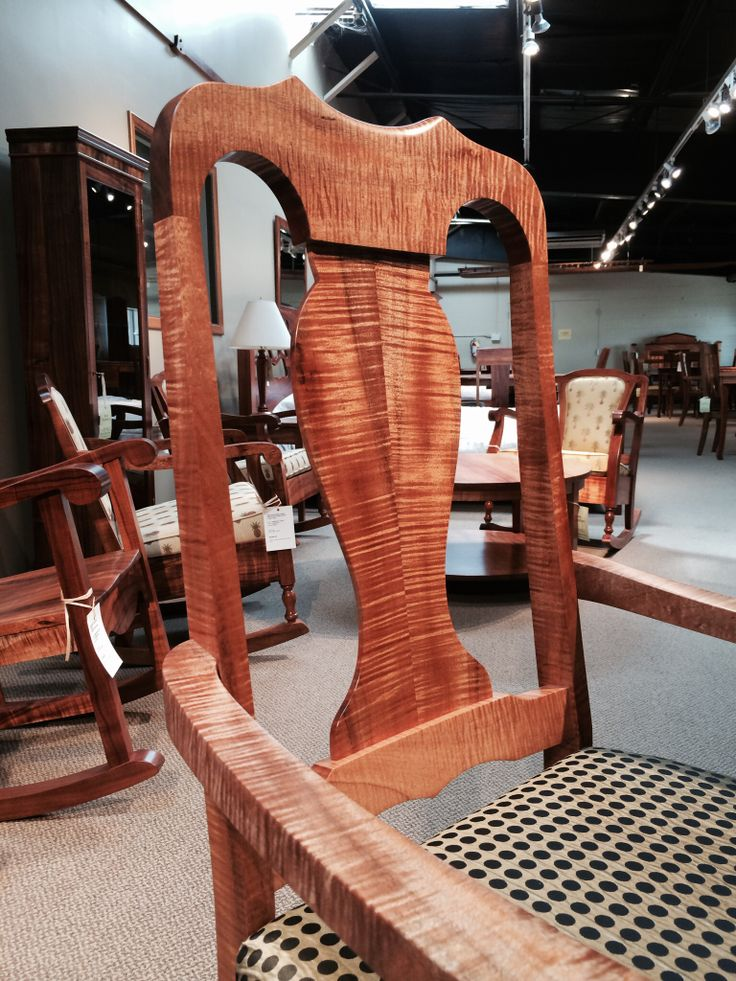 Curly koa dining chair just completed by our craftsmen in