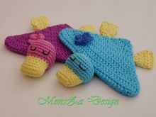 Mini-Schnuffeltuch Ente Mia - für Babys und Kleinkinder (Häkelanleitung)