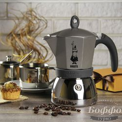 <b>Гейзерная кофеварка Bialetti Moka</b> Induzione (на 6 чашек по 40 ...