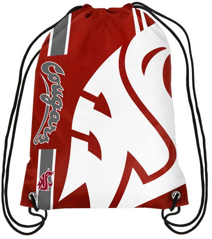 Forever Collectibles Washington State Cougars Big Logo Drawstring Bag