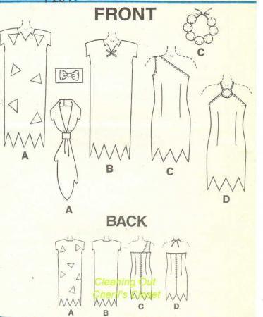 Wilma Flintstone Costume Pattern   ... McCall's Sewing Pattern for Boys' Girls' Kids' Flintstones Costumes
