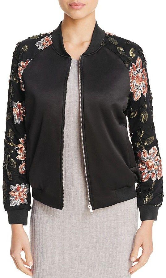 Endless Rose Floral Sequin Bomber Jacket on Shopstyle.