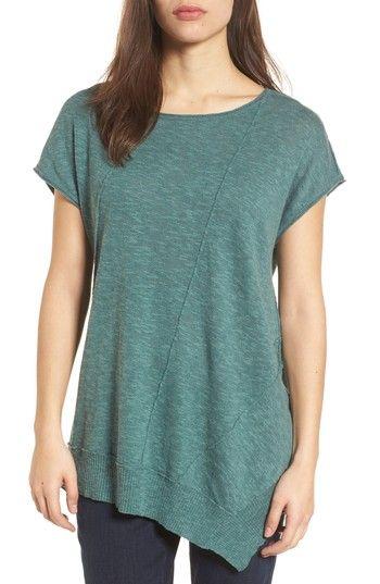 8c35ec1de76 Ready for summer! Eileen Fisher Cap Sleeve Organic Linen   Cotton Scoop Neck  Top
