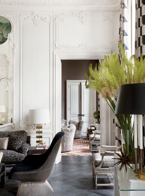 The apartment of Lauren and Andres Santo Domingo in Paris. #Paris #decor #LaurenSantoDomingo #AndresSantoDomingo