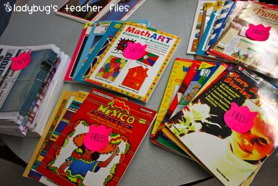 Ladybug's Teacher Files: Decluttering and downsizing materials!