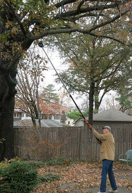 Have a yardcare enthusiast on your gift list? The versatile tree pruner for is rope-free for two-handed control and extends up to 12' to take down high branches without a ladder.