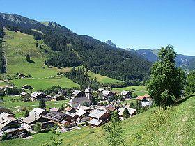 Le village, dans la vallée d'Abondance.