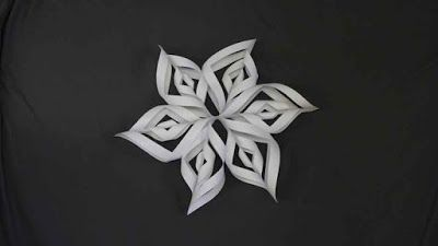 How to Make a 3D Snowflake ~ Crazzy Craft