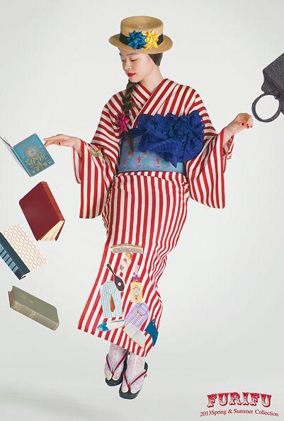thekimonogallery:  Image 1,Furifu Summer 2013 Collection
