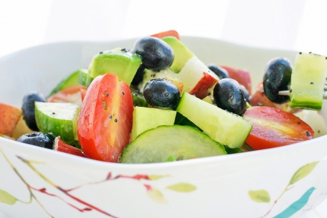 PEAR, BLUEBERRY, CUCUMBER, TOMATO FRUIT SALAD: Recipe Food, Tomatoes Fruit, Fruit Salads, Gluten Dairy Free, Average Fruit, Food Character, Cucumber Salad, Food Adventure, Cucumber Tomatoes